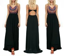 Sexy Womens Sleeveless Boho Long Maxi Evening Party Cocktail Dress Beach Dresses