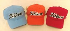 Titleist Vintage Men's Golf Cap Hat Red Orange Light Blue Adjustable NEW