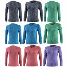 Womens Ladies Sports Base Layer Dry Fit Top Thermal Gym Long Sleeve Compression