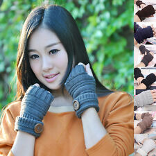 Knitted Fingerless Winter Gloves Wrist Arm Hand Warmer Mittens Fashion Men Women