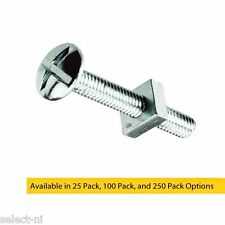 M5 x 50mm Bright Zinc Plated Roofing Bolts With Nut - Trunking, Guttering