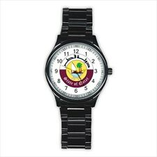Emblem of Qatar Stainless Steel Sport Watch - Tabard Surcoat