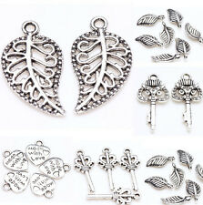 New 25/50X Tibet Silver Metal Loose Spacer Charm Pendants Charms Jewelry Making