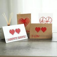 Kraft Paper Wedding Invitation Heart Greeting Cards Making with Envelopes 10 Set