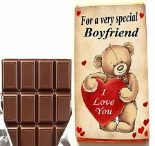 Birthday Gift For Him Chocolate Bar or Wrapper For Boyfriend Husband Wife
