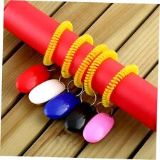 Dog Pet Click Clicker Training Obedience Agility Trainer Aid Wrist Strap RX