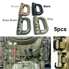 New 5PCS Military Products Grimloc Molle Locking D-ring EDC Webbing Buckle Clip