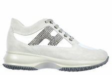 HOGAN WOMEN'S SHOES SUEDE TRAINERS SNEAKERS NEW INTERACTIVE H STRASS ALTRAVE 066