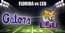 2 FLORIDA GATORS vs LSU TIGERS 10/7/17-LOWER SIDELINE SECTION 14-FRONT ROW!