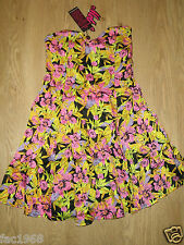 Motel Women's Betsy Bandeau Mini Dress Orchid Floral Pink Green Size S 10 New