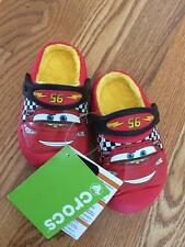 NEW Crocs Kids winter Disney Cars Lightning McQueen Clogs Shoes Red w/Fur Inside