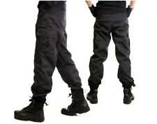 POLICE SWAT Black Tactical Assault Duty Gear Cosplay Military Hunting Pants