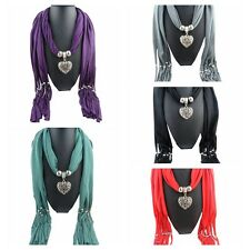 Tassel Beads Hollow Peach Charms Pendant Necklace Scarves Wrap Shawl Scarf