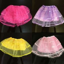 New Children Girl Kids Translucent Party Ballet Dance Dress Tulle Tutu Skirt