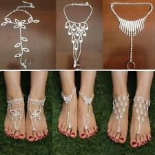 Sandals Beach Ankle Bracelet Foot Chain Toe Ring Jewelry