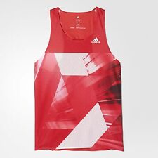 NWT adidas adizero Climacool Midnight Grey White/Ray Red Track & Field tops Run