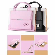 Cute Bowknot Folio Leather Stand Case Cover Hand Bag Pouch For iPad mini 1 2 3 4