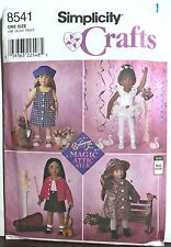 """(5) 18"""" American Girl/Boy Type Doll Clothes Simplicity Sewing Patterns Uncut"""