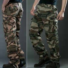 Combat Men's Cotton Cargo ARMY Pants Military Camouflage Camo Casual Trousers