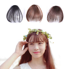 Women Front False Hair Fringe Piece Neat Air Bang Clip in Fake Hair Extensions