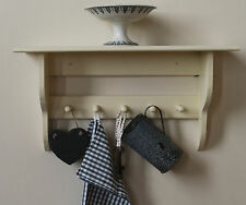 Hallway, bathroom or kitchen large shelf with pegs coat or towel peg rail