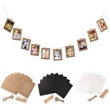 10pcs 6inch Paper Photo Flim DIY Wall Picture Hanging Frame Album+Rope+Clips Set