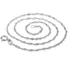 And 45cm Silver Plated Fashion Accessories Water Wave Ripple Chain Necklaces