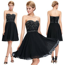 Chiffon Short Mini Dress Formal Prom Homecoming Party Evening Cocktail Grad Gown