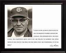 "Vince Lombardi Photo Picture, Poster or Framed Famous Quote ""A Man Can Be As.."""