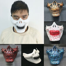 Skull Skeleton Airsoft Game Hunting Motorcycle Half Face Protect Gear Mask Guard