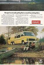 1974 GMC MotorHome: Getting There As Much Fun Print Ad (13514)