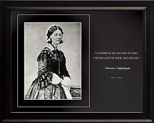 """Florence Nightingale Photo Picture, Poster or Framed Famous Quote """"I attribute"""""""