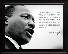 """Martin Luther King Jr Photo Picture, Poster or Framed Quote """"If you can't fly"""""""