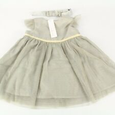 LADYBIRD Baby Girls Silver/Gold Party Dress Size 0-3-6-9 m England NWT
