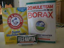 FELS NAPTHA, WASHING SODA, BORAX, LAUNDRY SOAP MAKES 5 GALLONS