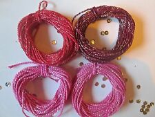 10/20/30 metres of REDS & PINKS  Sparkle Cotton  Bakers Twine Christmas
