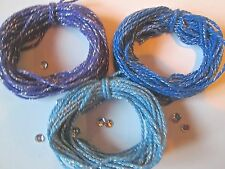 10/20/30 metres of BLUES & PURPLE  Sparkle Cotton 2mm  Bakers Twine Christmas
