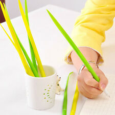 1Pc New Lovely Plastic Grass Shaped Ball-point Pen Black Ink School Stationery