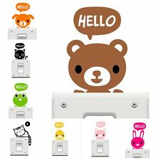 1Pc Lovely Cartoon Animal Pattern Light Switch Removable Wall stickers Home DIY