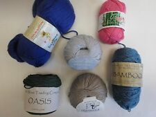 Bamboo~Silk~ Cotton ~Fancy yarn selection~ Pick one of the 6 varieties offered