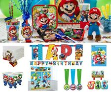 Super Mario Birthday Party Supplies Tableware Plates Napkins Cups Invites