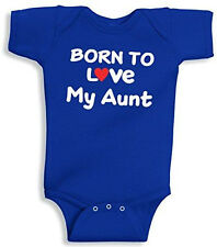 Lil Shirts Born to Love My Aunt Baby Bodysuit