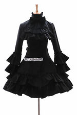 JL-566 black Goth Punk Visuel Kei Kera Lolita dress costume dress Cosplay