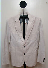 Seven 7 For All Mankind Cream Gray Stripes 2 Button Gatsby Blazer - Size S or M