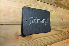 1st 4 Signs - Slate House Signs for House, Door, Wall & Gate Engraved Plaques