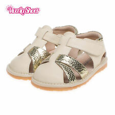 Unisex Boys / Girls Toddler - Leather Squeaky Shoes Sandals in Beige