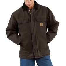 Carhartt Sandstone Duck Arctic Traditional Coat - Quilt Lined - DARK BROWN