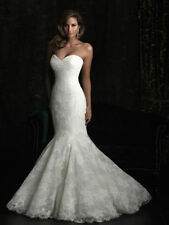 Elegant Lace white/vory mermaid wedding dress custom size 2-4-6-8-10-12-14-16 ++