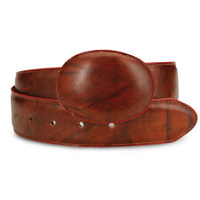 Mens Brown Oxido Cowboy Western Exotic Genuine Cowhide Leather Belts Size 32-48