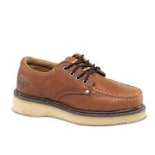 "Mens Light Brown 4"" Oxford Leather Waterproof Work Shoes BA 422 Size 5-13 (D, M)"